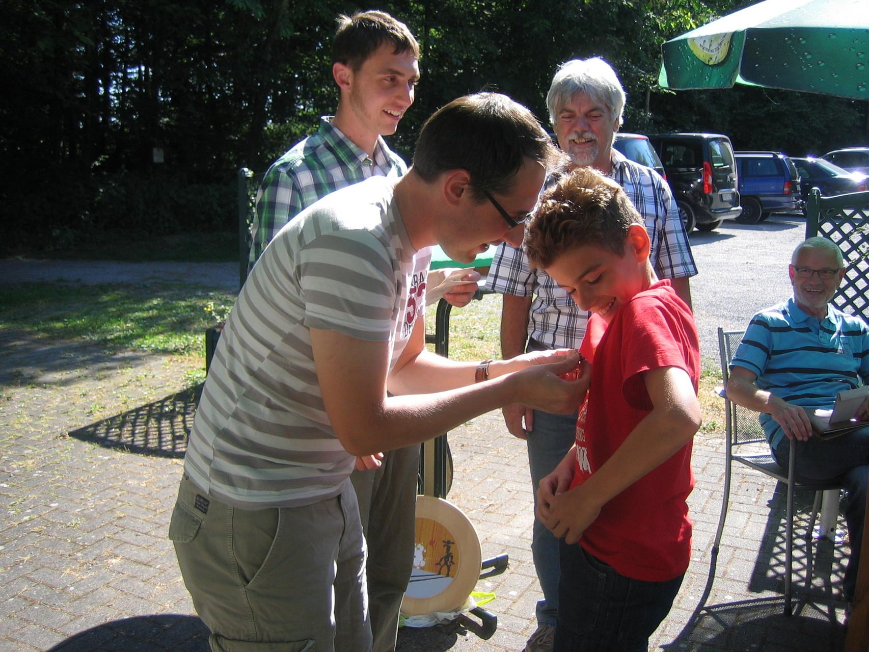 Proklamation der Königsfamilie 2014 - 2. Jugendritter Leon Reiter