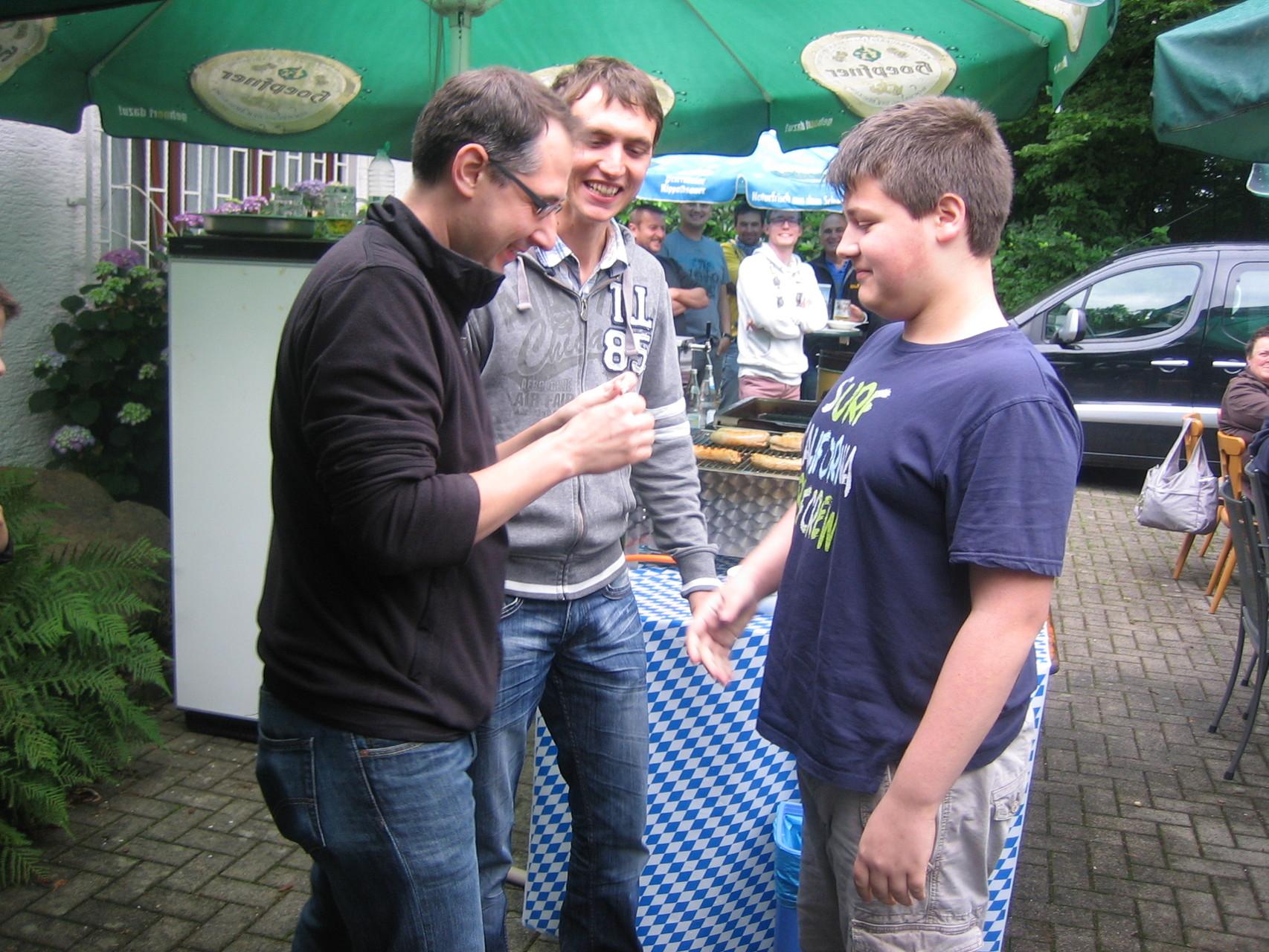 Proklamation der Königsfamilie: 1. Jugendritter Dustin Huck