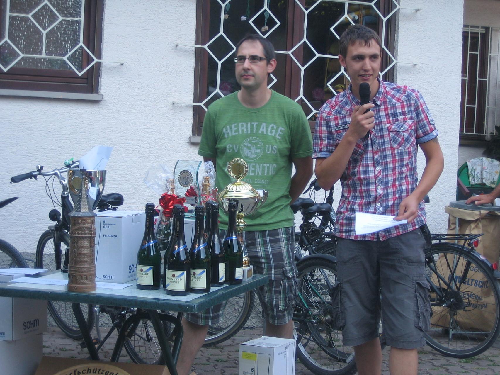 Siegerehrung durch unsere Vorstände Patrick und Philipp