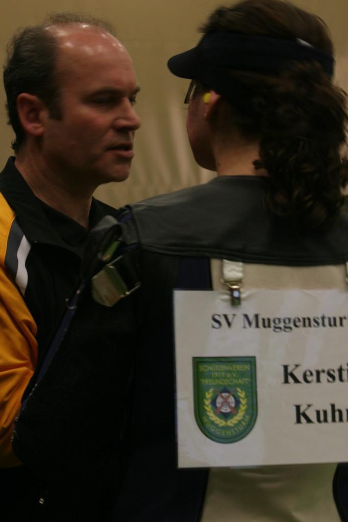 Kerstin Kuhn mit Techniktrainer Manfred Reis