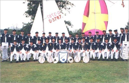 """Gruppenfoto 1991 am """"Effelder Waldsee"""""""