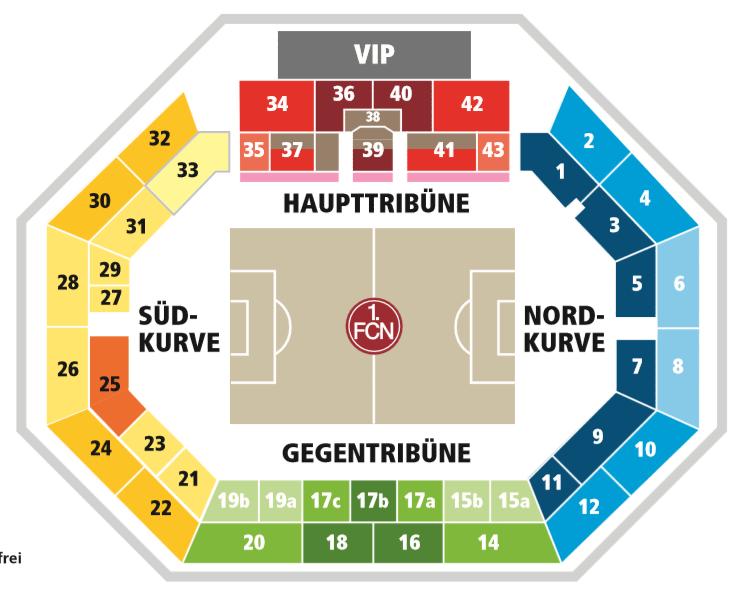 Nürnberg Stadion Plan