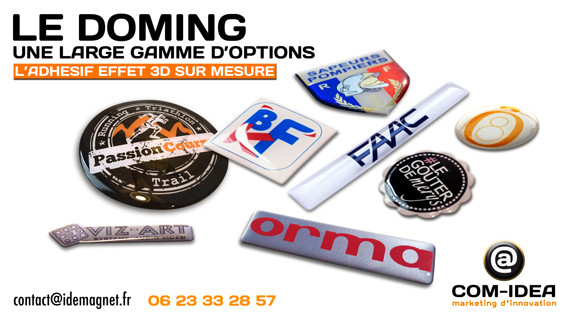 doming 3d; adhésif,sticker; dome,résine,