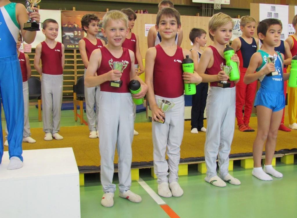 Marvin Platz 4, Luca Platz 5, Ruben Platz 6