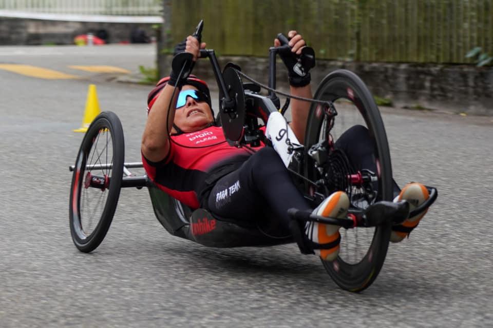 Sandra und Fabian im Paralympischen Strassenrennen