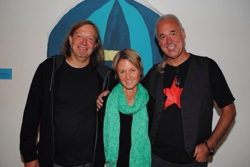 Steffi Hölscher mit Uwe X. bei einem Benefizkonzert