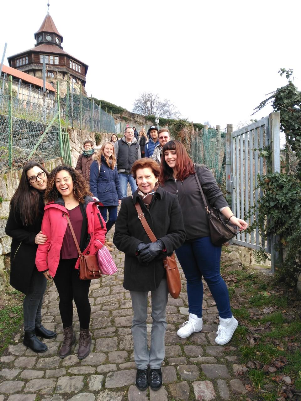 Abstieg von der Esslinger Burg
