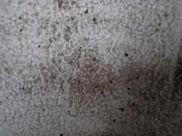 伝統技法、彩泥を施した器のマクロ画像。泥の濃い薄いによって焦げ、御本、泥ヒビなどがでて表情豊か