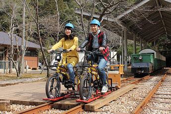 Riding a Rail Mountain Bicycle