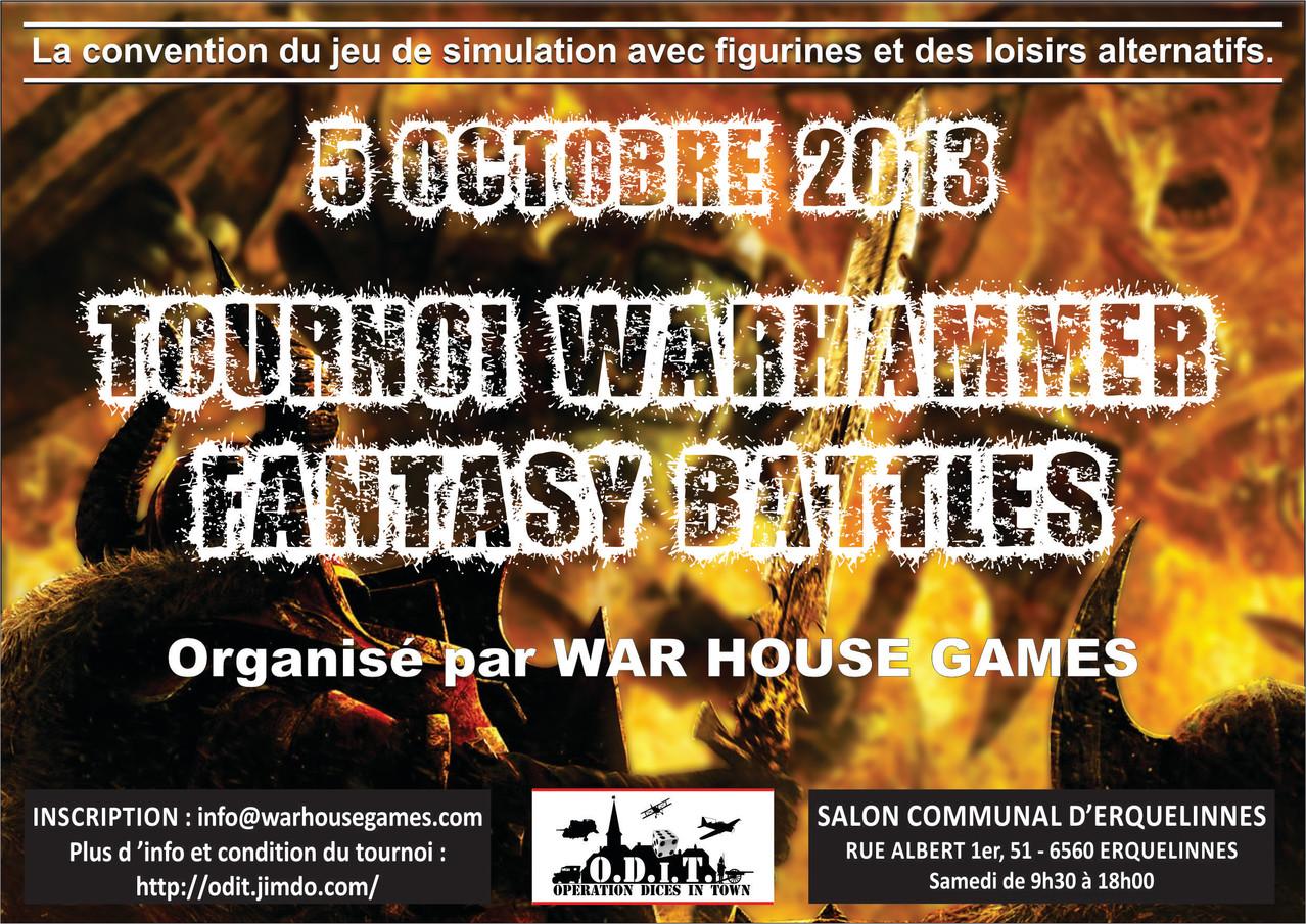 """O.D.i.T. - 05 Octobre 2013 """"Tournoi Warhammer Fantasy Battles"""" Cliquez-sur-l-affiche-pour-agrandir"""