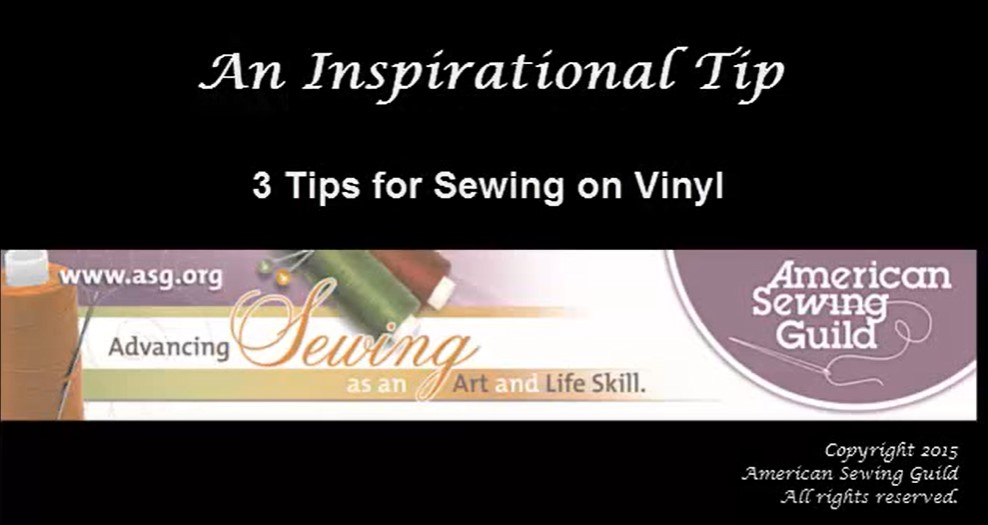 Sewing with Vinyl