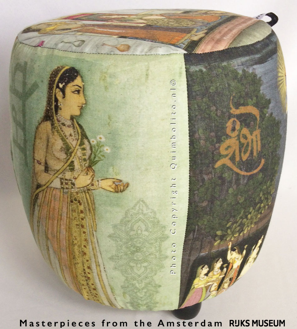 Meditation pouf, made with Masterpieces from the RIJKSstudio of the RIJKSmuseum Amsterdam