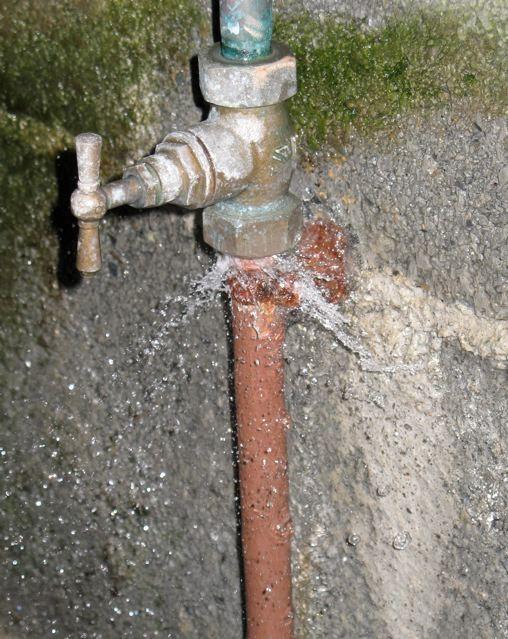 Réparation alimentation d'eau
