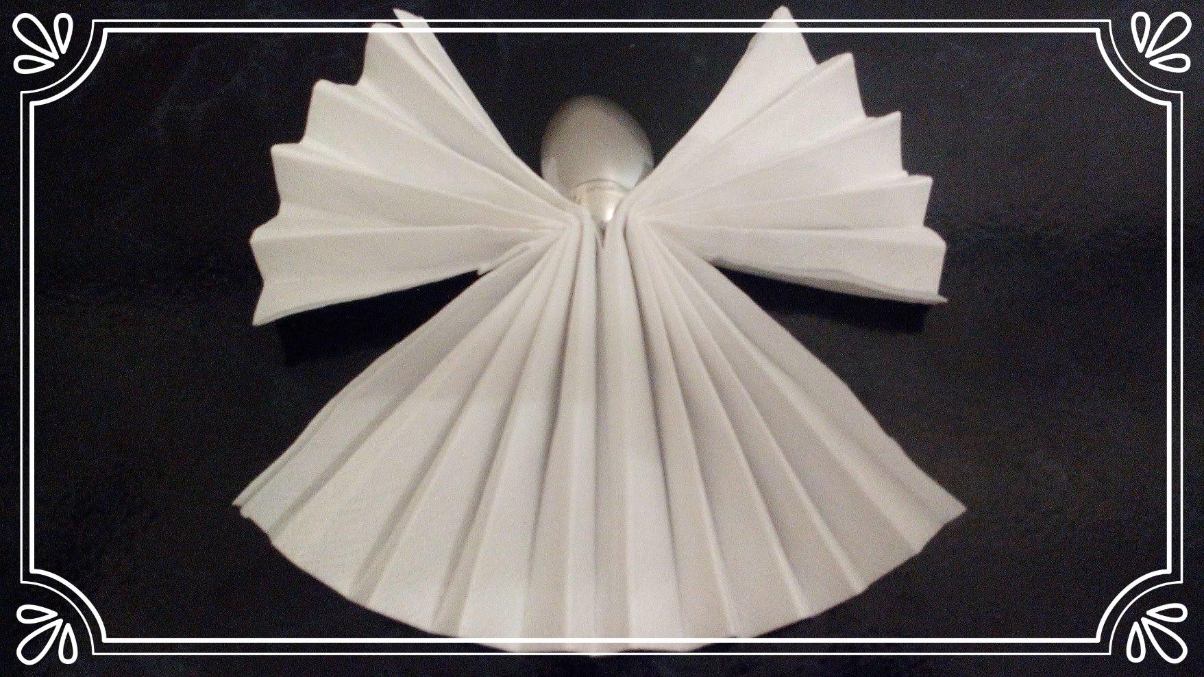 servietten falten engel tischdeko servietten falten. Black Bedroom Furniture Sets. Home Design Ideas