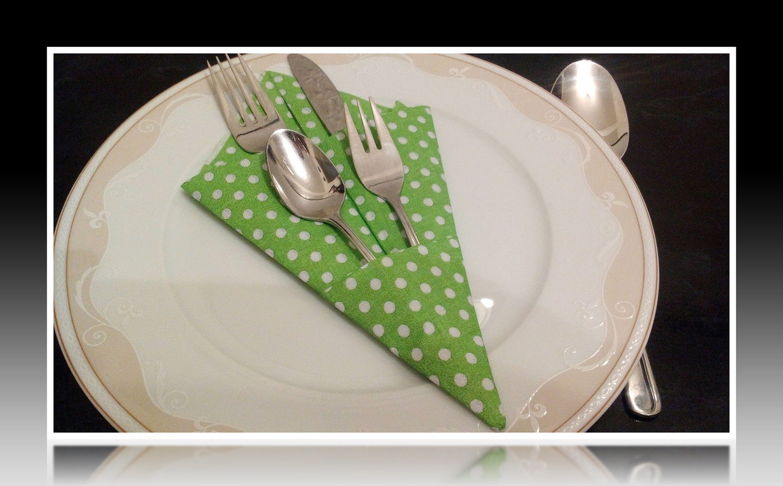 Bestecktasche Falten 10 Tischdeko Servietten Falten