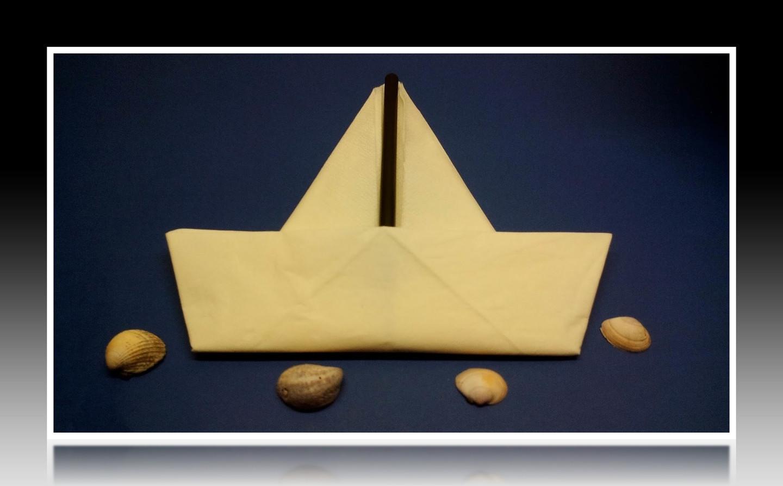 Servietten Falten Boot Einfach