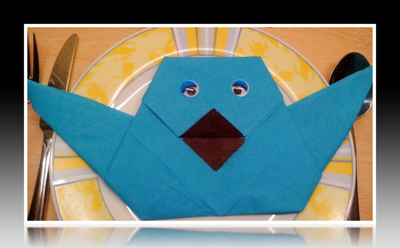 Servietten Falten Einfacher Vogel Tischdeko Servietten Falten