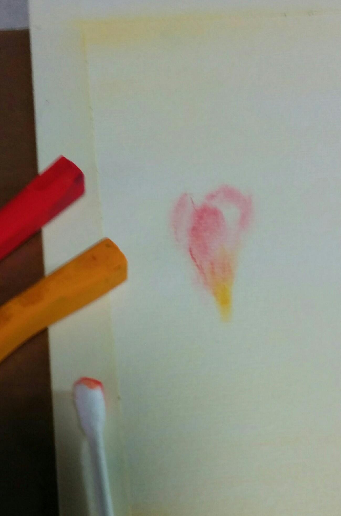 わたで描く3原色のパステル画 描...