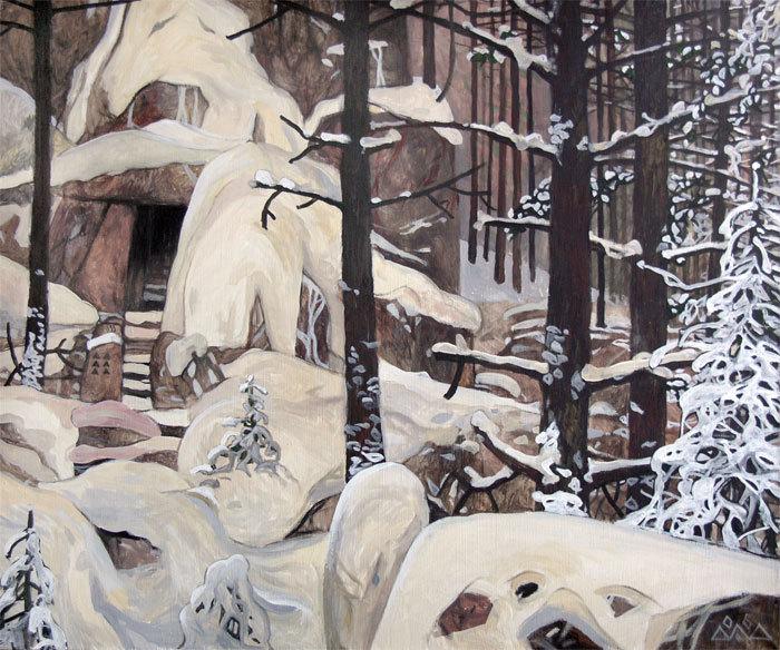 """Suomi"" 50х60см х,темпера, масло 2006г. частная коллекция М.Трофимова"