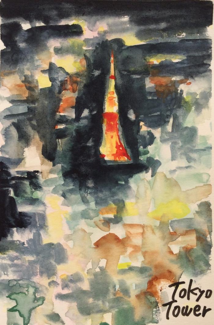 東京タワーとネオン