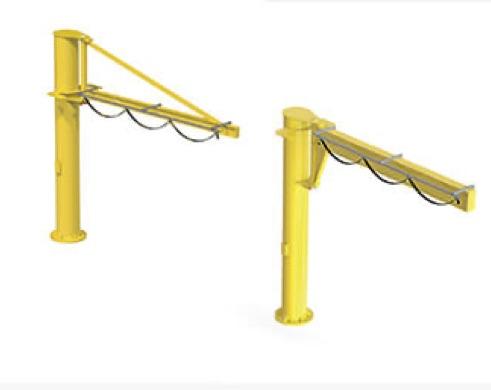 Grúas giratorias de columna