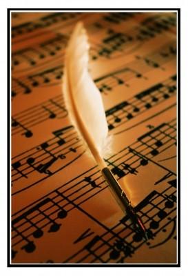 Komponieren: Partitur einer Komposition