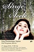Konzert Gesang Irina Wischnizkaja Olaf Wiegmann