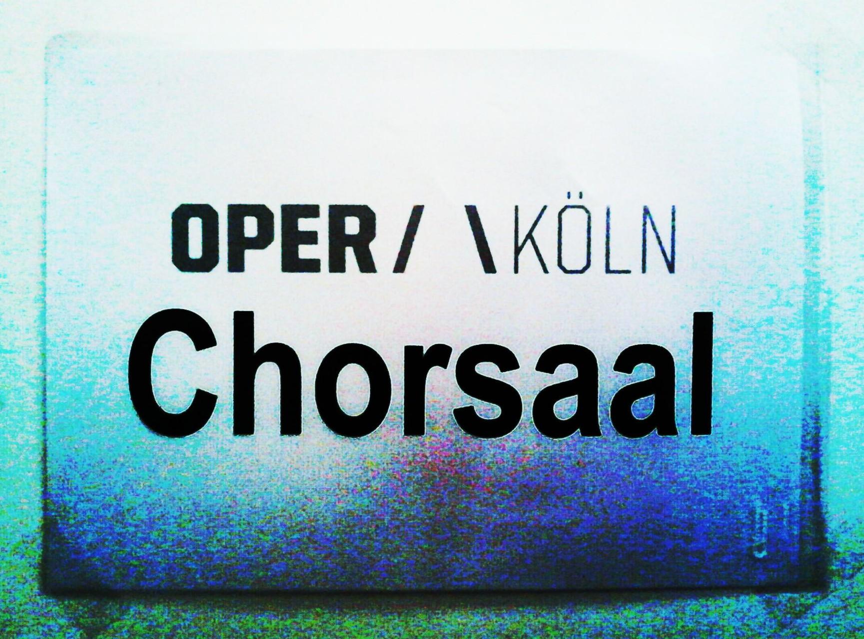 ©Charlotte Sander. Chorsaal Oper Köln - Natürlich nicht IN der Oper... November 2015