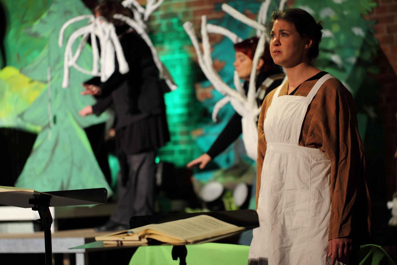 "©Jan Hebborn. 10. Heidkamper Kulturtage, Probe ""Hänsel und Gretel"", 28.10.2012"