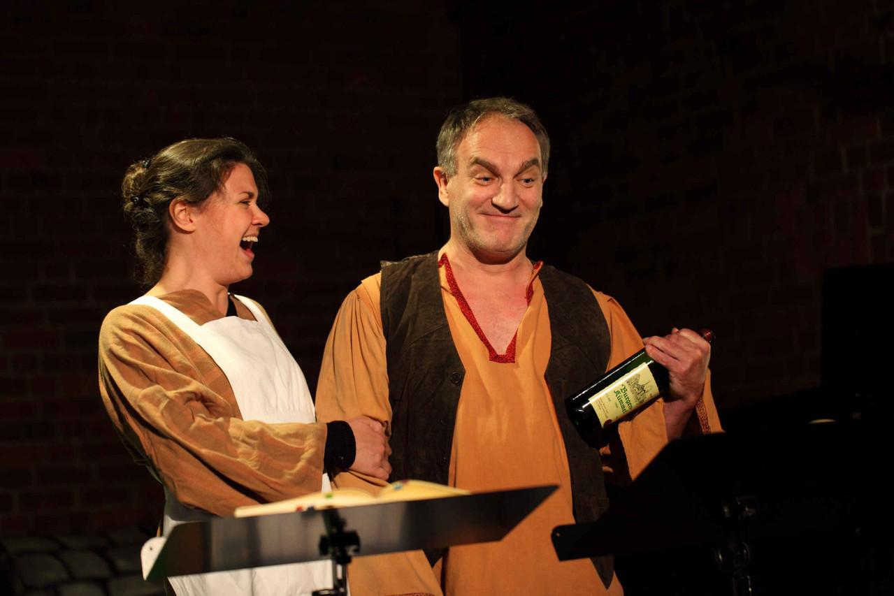 """©Jan Hebborn. 10. Heidkamper Kulturtage, Probe """"Hänsel und Gretel"""", mit Volker Kammerer als Vater,  28.10.2012"""