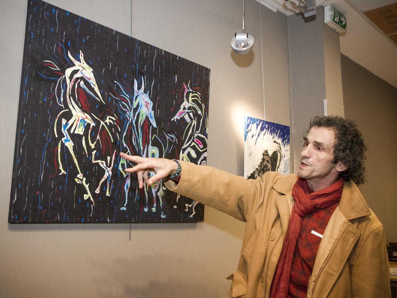 vernissage et exposition de tableaux de Thierry Lambert.