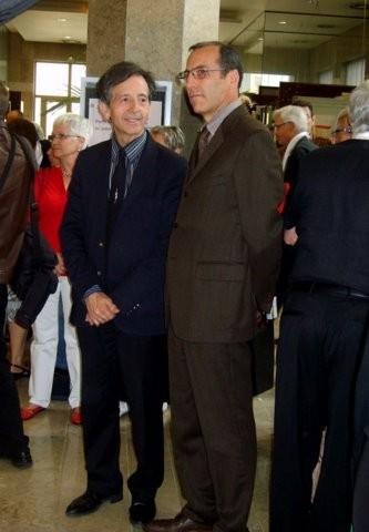 Monsieur Molilna Premier adjoint au Maire de Colomiers en charge de la Culture et monsieur le Consul d'Italie