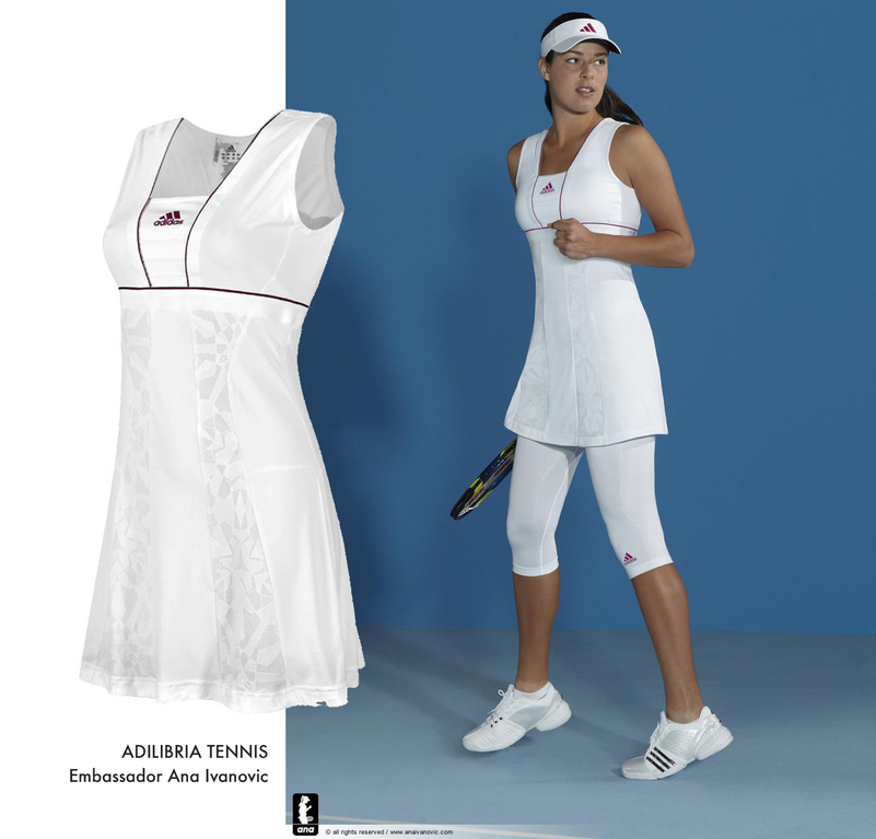 Tennis Dress with Jacquard Inserts - Embassador Ana Ivanovic
