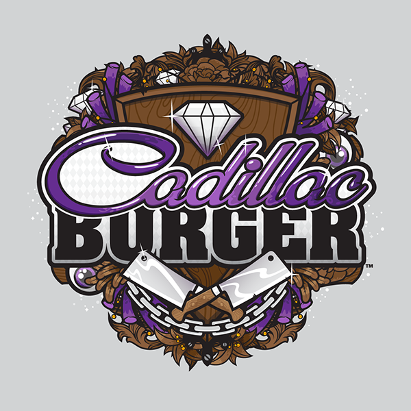 Cadillac Burger logo by Jared K. Nickerson