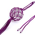 紫のネット入り水晶
