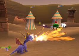 Spyro crache du feu