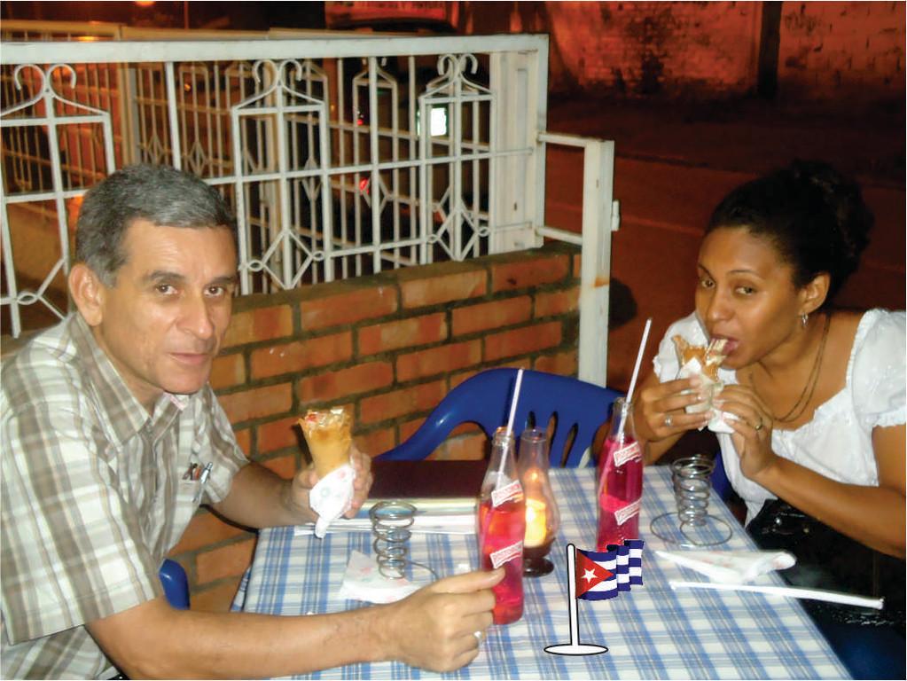 Una médico Cubana, invitada por un cliente.
