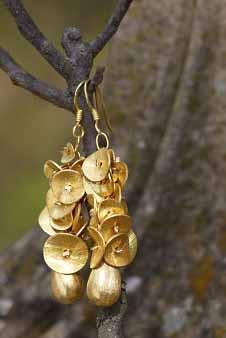 """Art.Nr. 112b - Ohrhänger """"Goldmarie"""" (vergoldetes Silber)"""