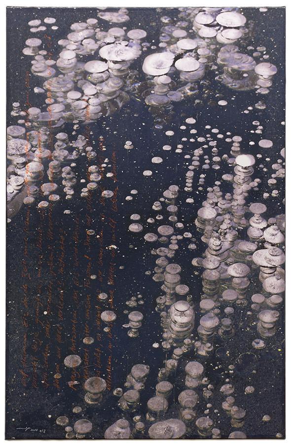 NEW LAND (2014, 1/8, 65x100cm, MP0342, Photographie, Inkjet-Pigmentdruck auf Leinwand, Mischtechnik) © Michael Pfenning