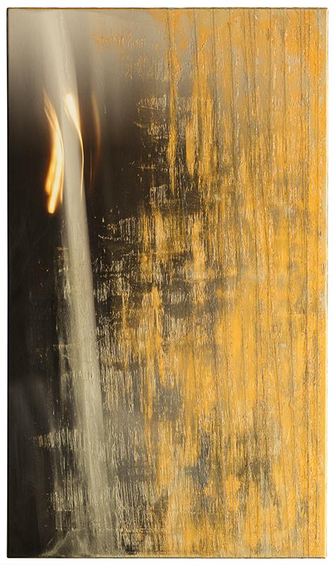 GLEISSEND BEWEGEND (2016, 64x110cm, MP0102, Photographie, Inkjet Pigmentdruck auf Leinwand, Acryl, Print1v8) © Michael Pfenning