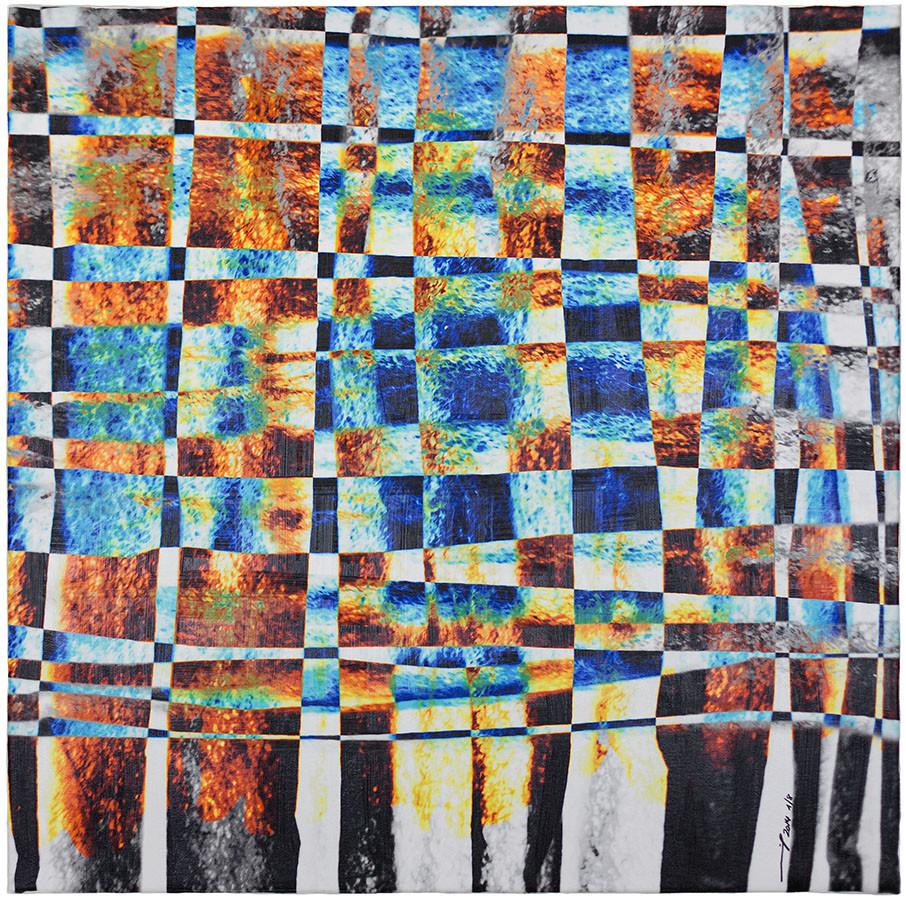 LIFE OF A WATERDROP (2014, 1/8, 65x65cm, MP0148, Photographie, Inkjet-Pigmentdruck auf Leinwand, Acryl) © Michael Pfenning