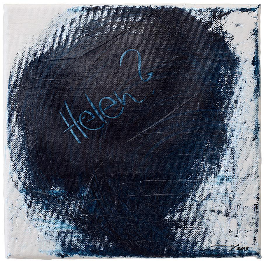 HELEN? (2013, 20x20cm, Acryl auf Leinwand, MP5009) © Michael Pfenning