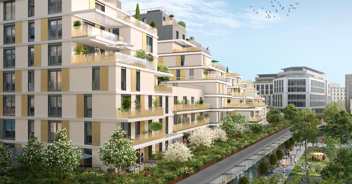 Cogedim choses OGGA to connect their futuristic housings in Issy Coeur de Ville