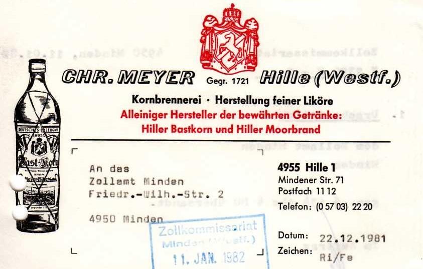 1981 - gleiches Design, aber leicht geändert