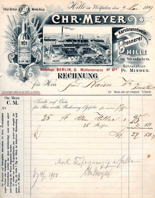 1899 - Niederlage Berlin