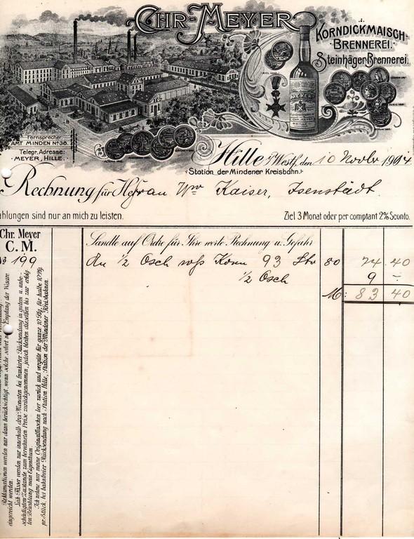 1914 - vorgedruckte Jahreszahl 190_