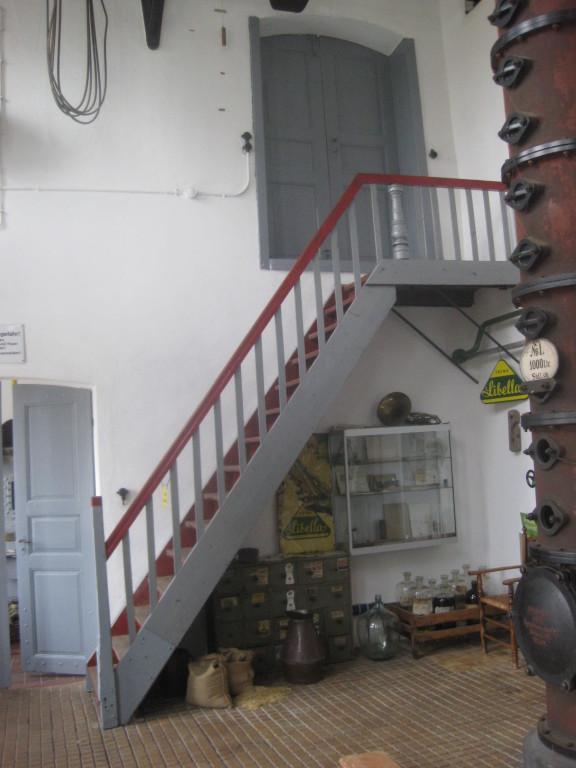 Treppenaufgang zum Maischeboden