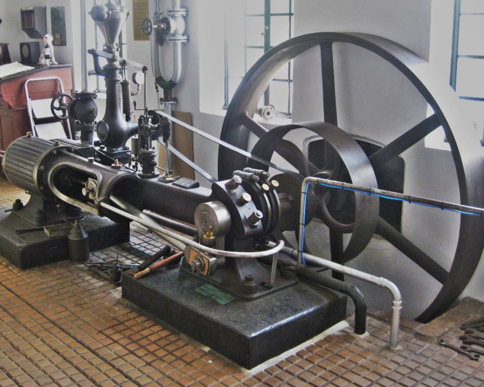 Einkolben-Dampfmaschine von 1895