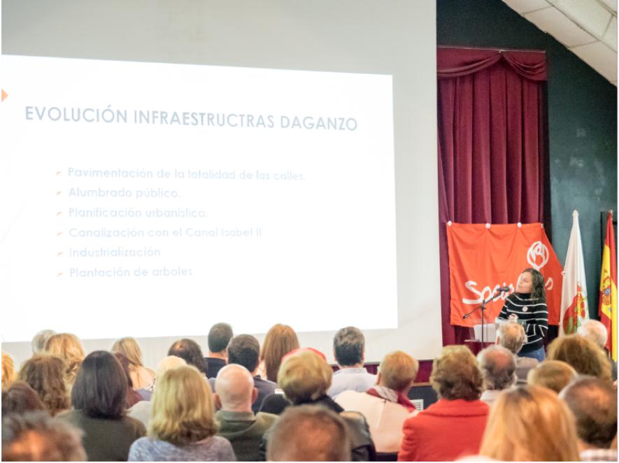 Presentación de Teresa García, la militante más joven del PSOE Daganzo