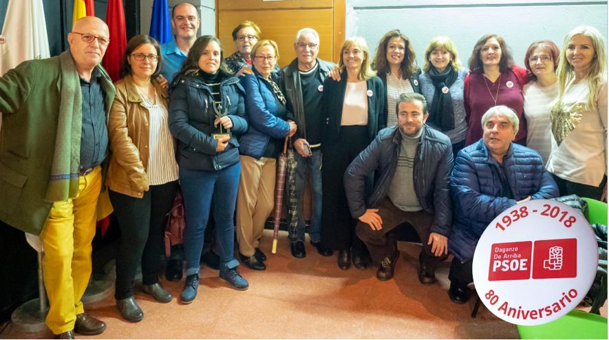 Militantes de la agrupación, representantes del PSOE-M, secretarios generales de otros municipios.